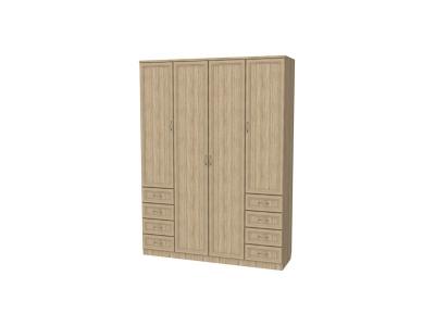 Шкаф для белья с полками и ящиками артикул 112 дуб сонома