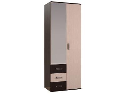 Шкаф 2-х створчатый Белла 2120х800х470 венге/дуб атланта