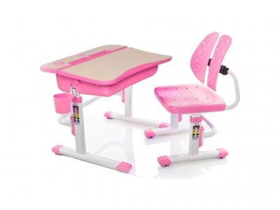 Парта и стульчик Mealux EVO-03 PN розовая