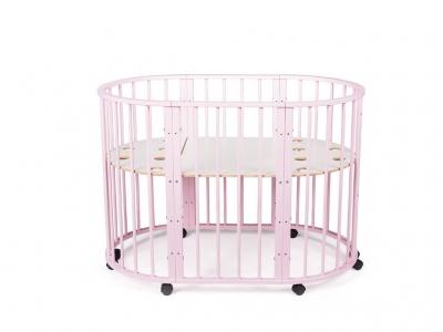 Кроватка для новорожденных трансформер Sleepy 8 в 1 розовая