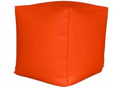 Пуфик Куб мини нейлон оранжевый люмин
