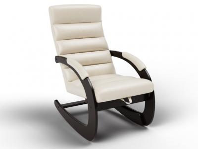 Кресло-качалка Ното экокожа крем