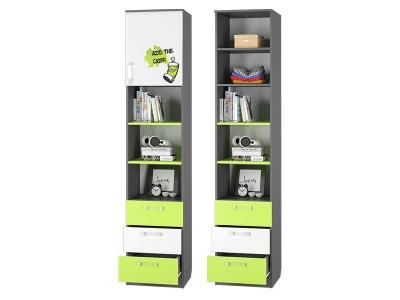 Шкаф для книг с 3-мя ящиками и дверкой Граффити