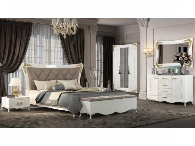Спальня Аделина Белый глянец-Золото