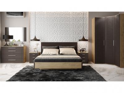 Спальный гарнитур Николь ГН-295.003 Бунратти, коричневый