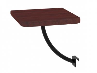 Полка прикроватная квадратная Милсон коричневая-металл черный
